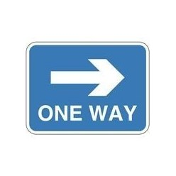 One Way Sign Right 600 x 450mm