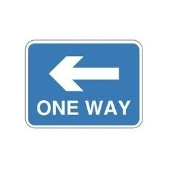 One Way Sign Left 600 x 450mm