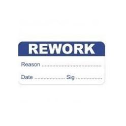 Rework Quality Control Label