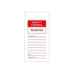 Quality Control Reject Tags Pack Of 10