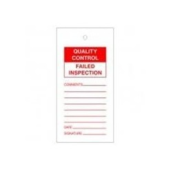 Failed Inspection Quality Control Tags Pack Of 10