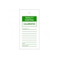 Quality Control Calibrated Tags Pack Of 10