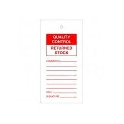 Quality Control Returned Tags Pack Of 10