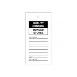 Quality Control Bounded Stores Tags Pack Of 10