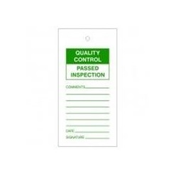 Quality Control Passed Inspection Tags Pack Of 10