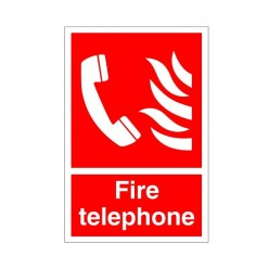 Fire Telephone Sign - 200mm x 300mm