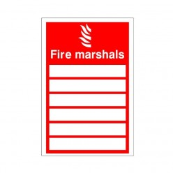 Fire Marshall Sign 150 x 200mm