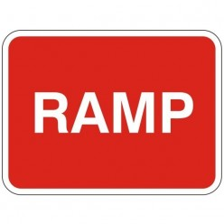 Ramp Sign 600 x 450mm