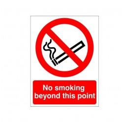 No Smoking Beyond This...