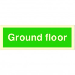 Ground Floor Fire Sign 300 x 100mm