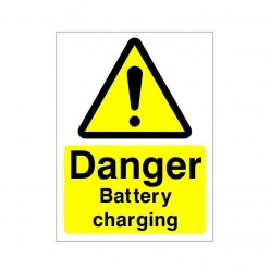 Danger Battery Charging Sign 150 x 200mm