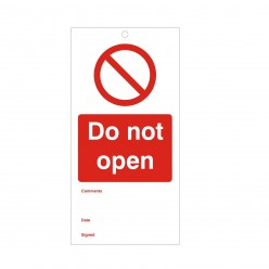 Do Not Open Maintenance Tag