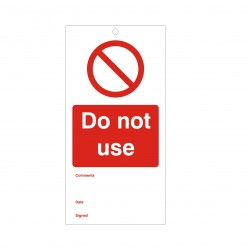 Do Not Use Maintenance Tag