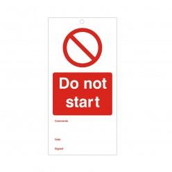 Do Not Start Maintenance Tag