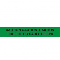 CAUTION CAUTION CAUTION: FIBRE OPTIC CABLE BELOW