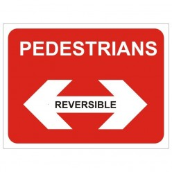 Pedestrians Reversible Temporary Traffic Sign 600 x 450mm
