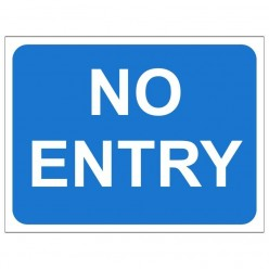 No Entry Temporary Traffic Sign 600 x 450mm