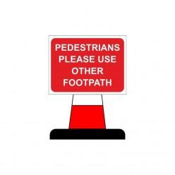 Pedestrians Please Use...