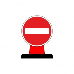 No Entry Rigid Cone Sign 600 Circular