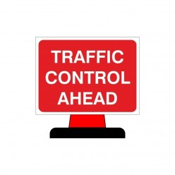 Traffic Control Ahead Rigid Cone Sign 1050X750mm