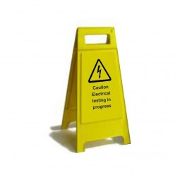 Caution Electrical Testing In Progress Free Standing Signs