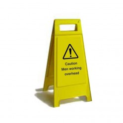 Caution Men Working Overhead Free Standing Sign