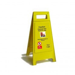 Caution Paslode Nail Gun In Use Free Standing Sign