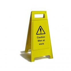 Caution Men At Work Free Standing Sign