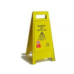 Caution Hiliti Guns In Use Free Standing Sign