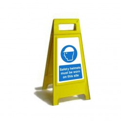 Safety Helmets Must Be Worn On This Site Free Standing Sign