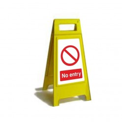No Entry Free Standing Sign