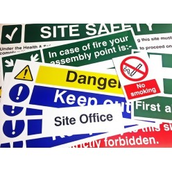 Construction Sign Safety Pack Lite Rigid Plastic