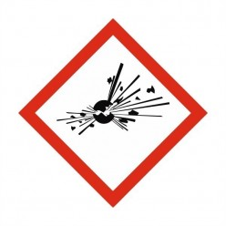 Explosive Label Sticker 100X100mm