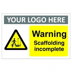 Warning Scaffolding Incomplete Sign