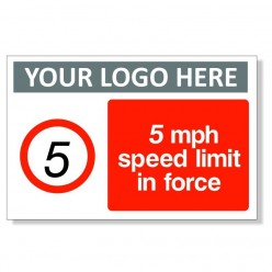 5 MPH Speed Limit In Force Sign