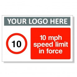10 MPH Speed Limit In Force Sign