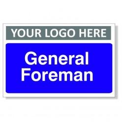 General Foreman Door Sign