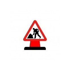 Men At Work Cone Sign
