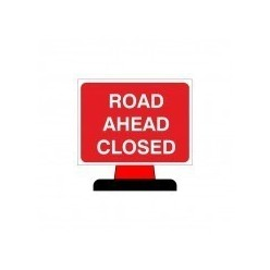 Road Ahead Closed Cone Sign 1050x750mm