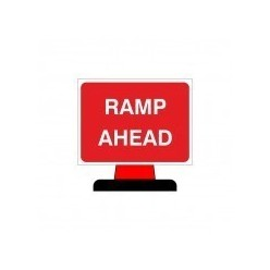 Ramp Ahead Cone Sign 1050x750mm