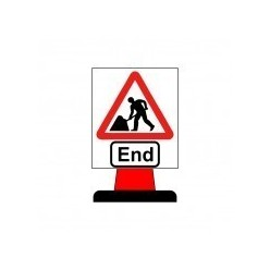 End Cone Sign 750x950mm