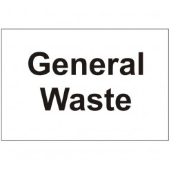 General Waste Sign 300mm x 200mm