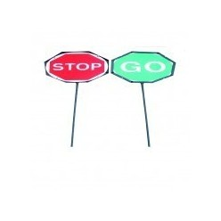 Double Sided Stop / Go Lollypop