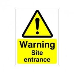 Warning Site Entrance Sign