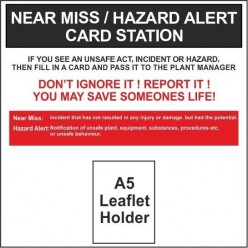 Near miss/ hazard alert card station 600x600mm