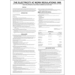 The electricity at work regulations 400x600mm poster