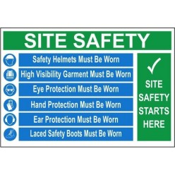 Site safety starts here 1200x800mm