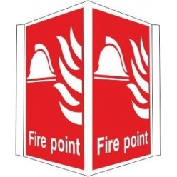 Projecting fire extinguisher sign 400x300mm