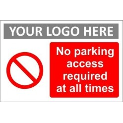 No parking sign with or without your logo
