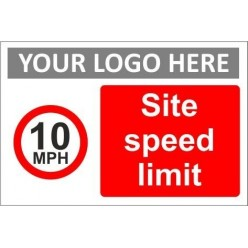 Site speed limit sign with or without your logo